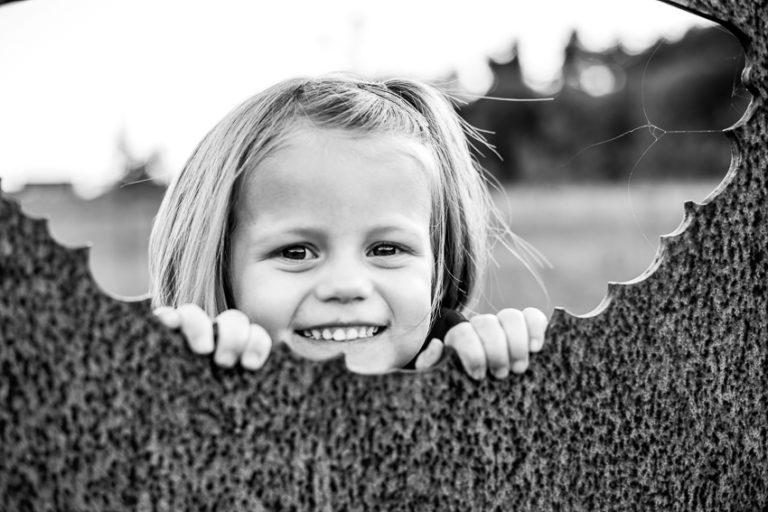 portret van een lachend kindje