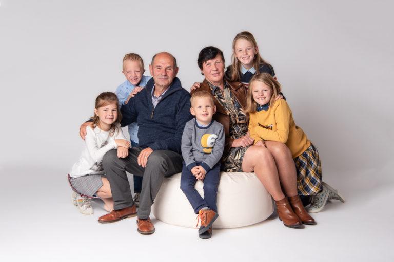 studiofotografie van familie